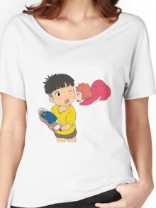 Sweet Ponyo Kiss Women's Relaxed Fit T-Shirt