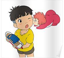 Sweet Ponyo Kiss Poster