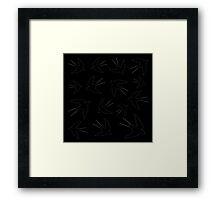 birds swallows on a black background,vector illustration Framed Print