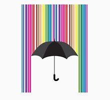 Colorful Rain and Umbrella Unisex T-Shirt