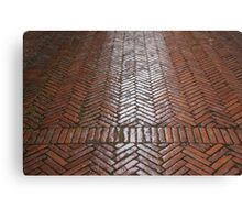 Red Brick Paving Canvas Print
