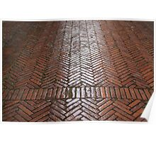 Red Brick Paving Poster