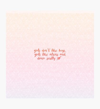 Girls Like Aliens and Dana Scully [PINK] Photographic Print