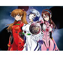 "Evangelion - The ""Children"" Girls - Red Sea edit. Photographic Print"