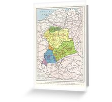 Vintage WW1 Map - Achievements Of The British Army Greeting Card