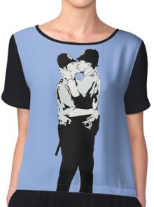 Kissing Coppers Women's Chiffon Top