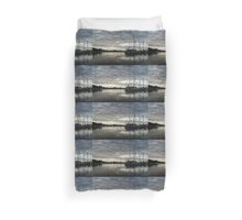 Soft Sky with Two Birds Duvet Cover