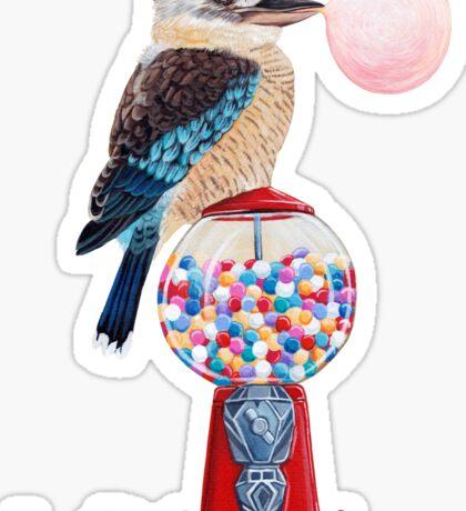 Bird gumball machine Kookaburra Sticker