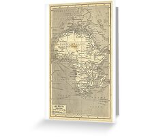 Vintage Map Of Africa (Early 20th Century) Greeting Card