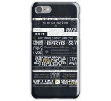 Motivation - 25 Quotes iPhone Case/Skin