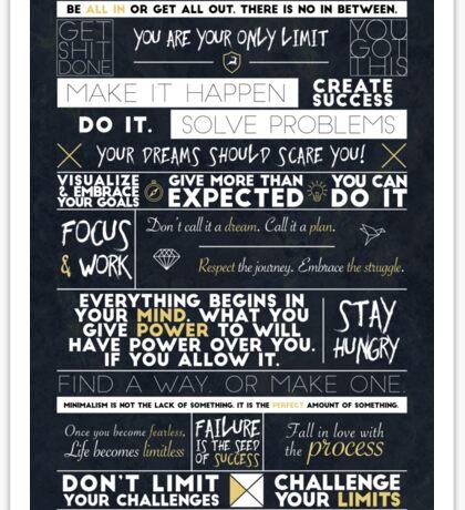 Motivation - 25 Quotes Sticker