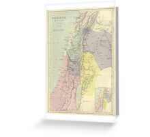 Vintage Map Of Palestine (Early 20th Century) Greeting Card