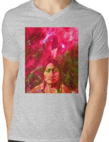 Ghost of Sitting Bull Mens V-Neck T-Shirt