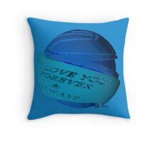 Abstract I Love You Forever & Always blues 443H Throw Pillow