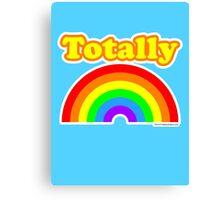 Totally Rainbow Logo Canvas Print