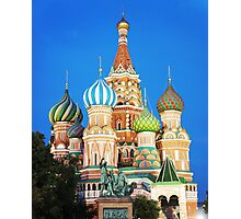 colorful church in Moscow  Photographic Print