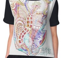 Abstract mandala flowers Chiffon Top