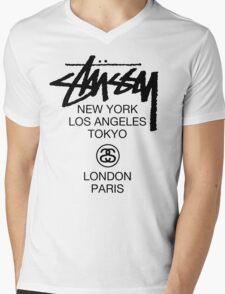Stussy Mens V-Neck T-Shirt