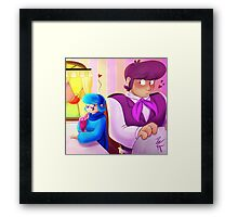 Flirting Framed Print
