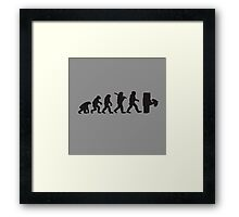 Evolution with minecraft Framed Print