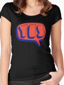Yes - Yes Women's Fitted Scoop T-Shirt