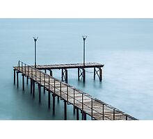 Steamy Pier Photographic Print