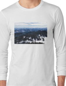 Snowy Ridges - Impressions of Mountains Long Sleeve T-Shirt