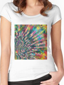 Abstract bouquet  Women's Fitted Scoop T-Shirt