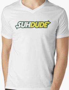 Suhdude Mens V-Neck T-Shirt