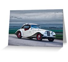 1955 MG TF Roadster Greeting Card