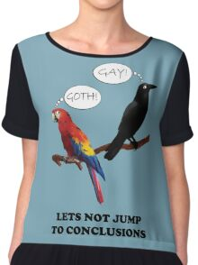 Let's Not Jump to Conclusions Chiffon Top