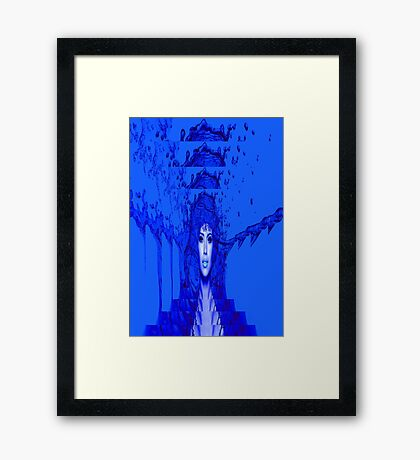 Blue Trance Framed Print