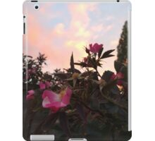 Peach Sunset and Pink Flowers iPad Case/Skin