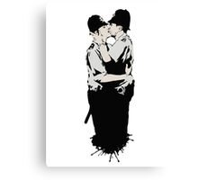Kissing Coppers Canvas Print