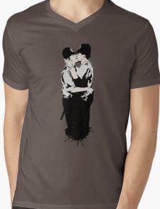 Kissing Coppers Mens V-Neck T-Shirt