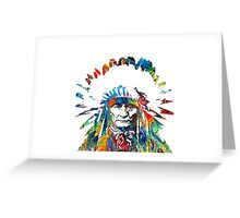 indo-Red Indian Greeting Card