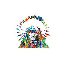 indo-Red Indian Photographic Print
