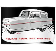 Reliant Regal 3/30 and 3/25 saloon Poster