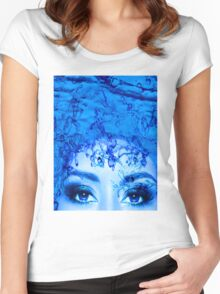 Blue Eyes Women's Fitted Scoop T-Shirt