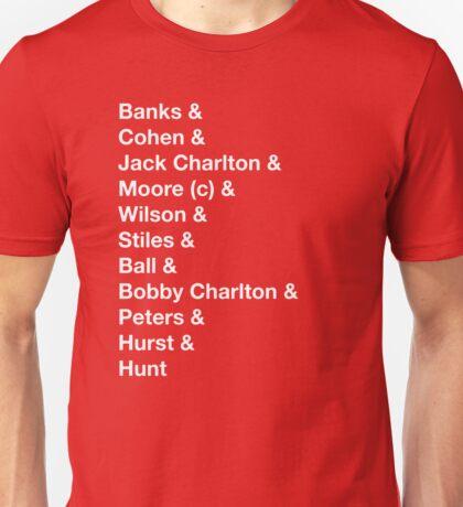 England 1966 World Cup Final Winners Unisex T-Shirt
