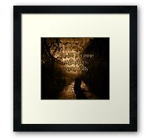 We All Become Monsters Eventually Framed Print