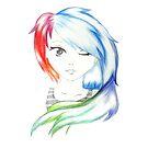 Rainbow Girl by drawingdream