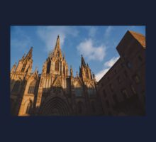 Barcelona's Marvelous Architecture - Cathedral of the Holy Cross and Saint Eulalia One Piece - Long Sleeve