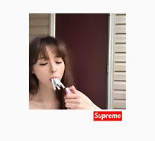 qt girl smoking 5 cigarettes at once with a box logo  Unisex T-Shirt