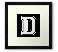 Letter - D (white) Framed Print