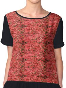 Red Azaleas Chiffon Top