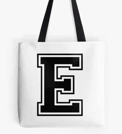 Letter - E (black) Tote Bag