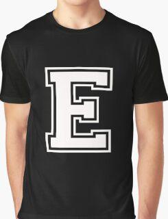 Letter - E (white) Graphic T-Shirt