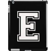 Letter - E (white) iPad Case/Skin