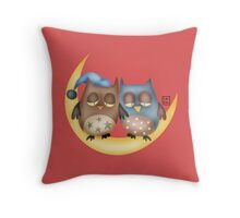 Sleepy hoots Throw Pillow